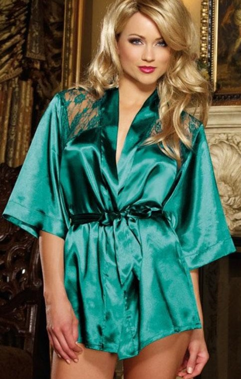 Pleasures Robe Nightwear Green Rf02659