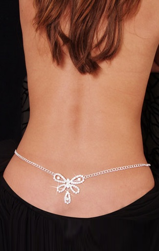 Butterfly Rhinestone Belly Chain