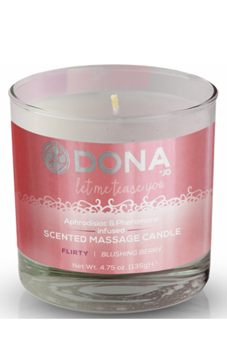 Dona Scented Massage Candle Blushing Berry