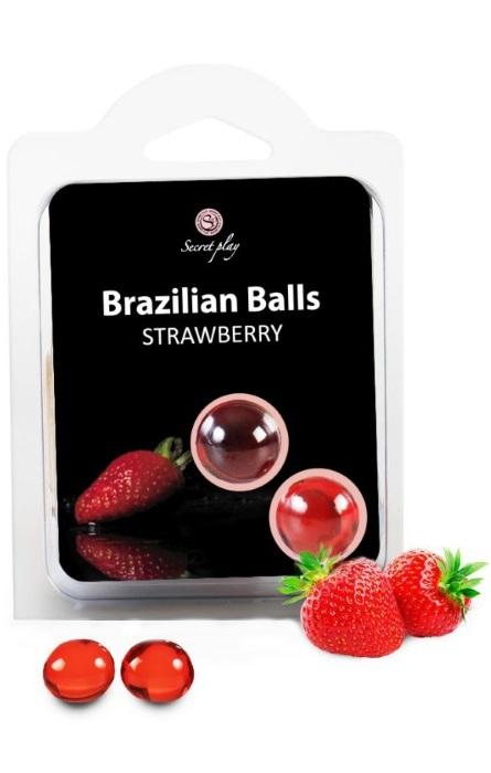 Brazilian Balls Lubrificante 2 Strawberry