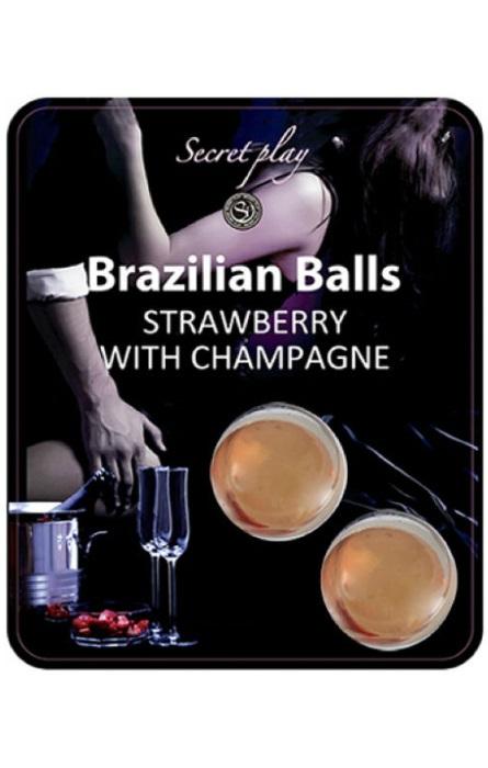 Brazilian Balls Lubrificante 2 Strawberry & Champagne