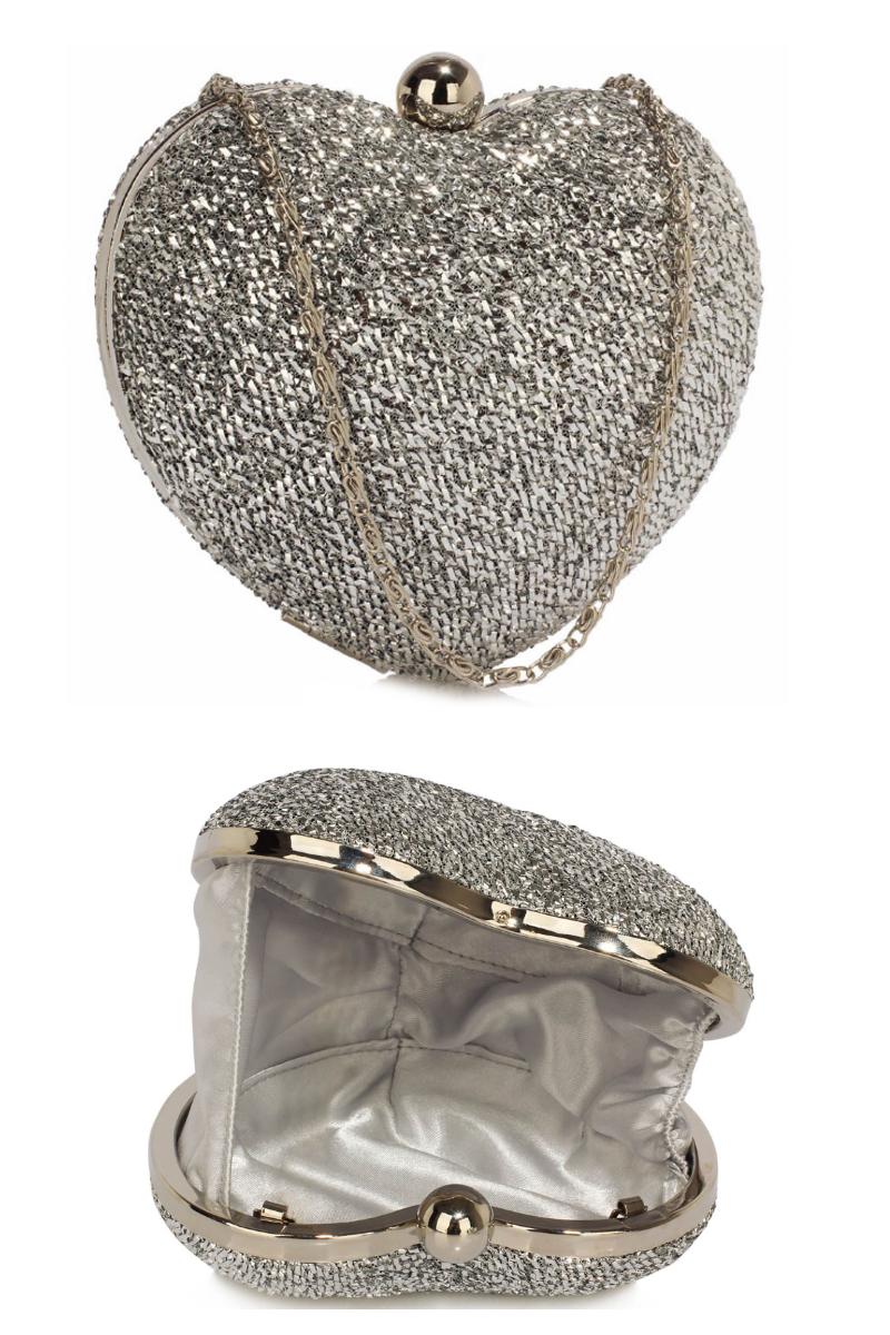 Pochette Heart Silver