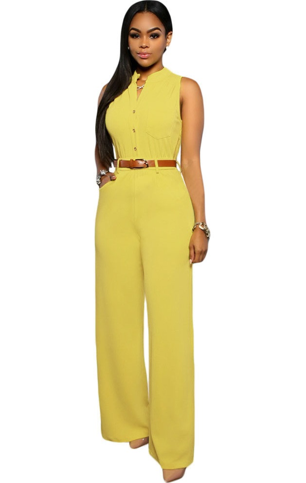 Pleasures Jumpsuit Yellow