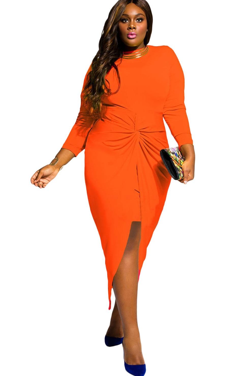 Pleasures Dress Orange XXL