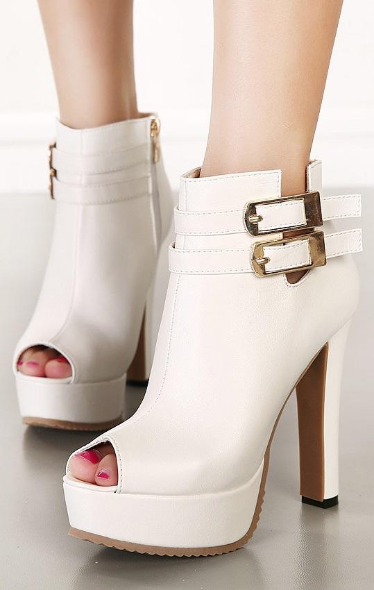 Pleasures Boots White