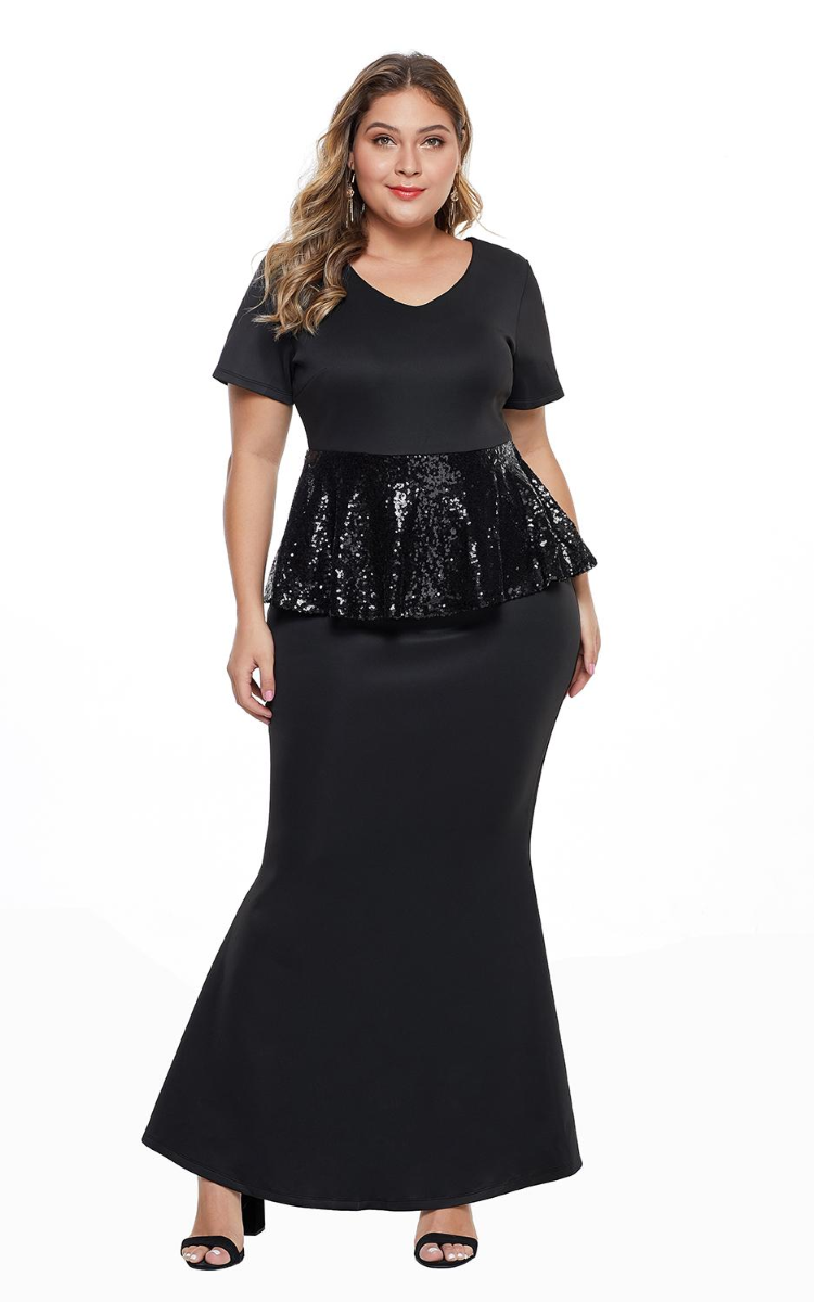 Pleasures Dress Plus Size Black RF8611216 (Roupa - Vestidos)