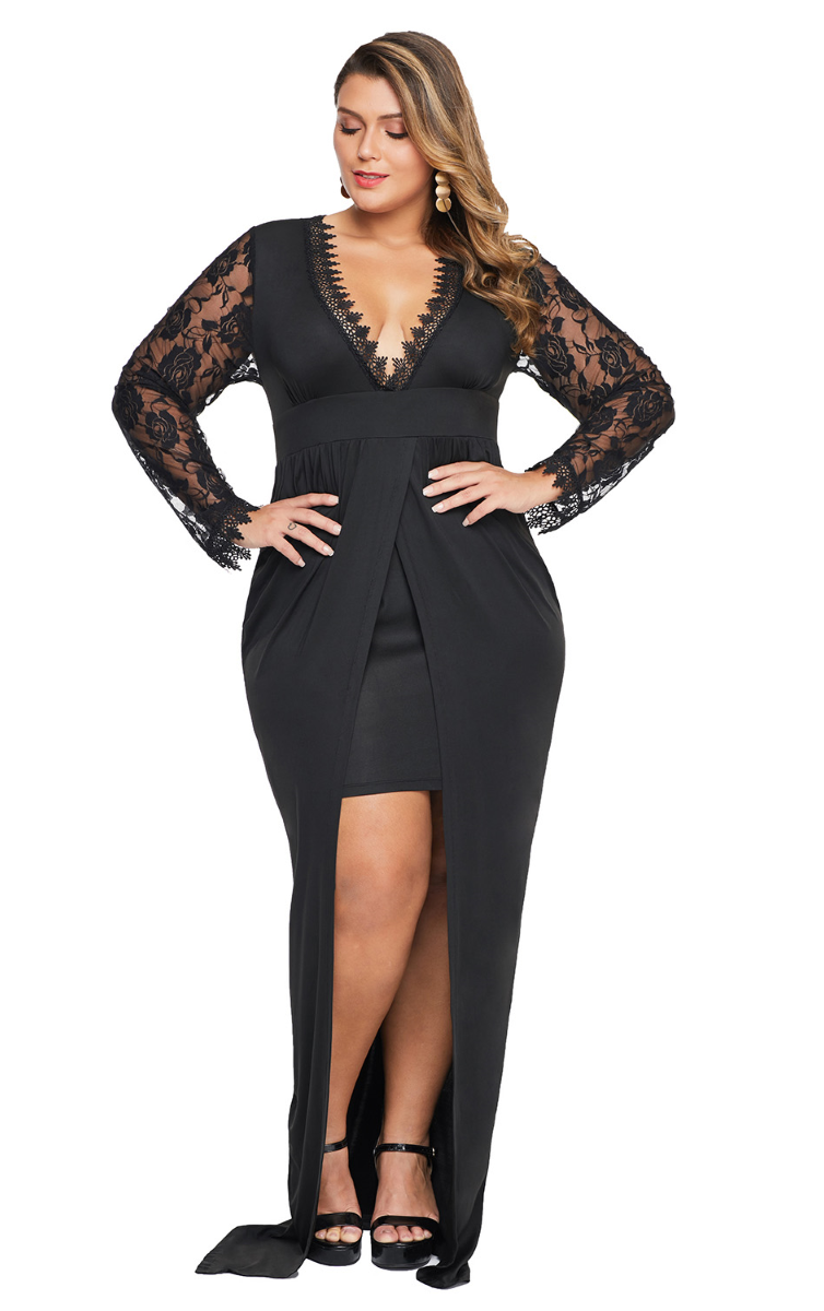 Pleasures Dress Plus Size Black RF8611211