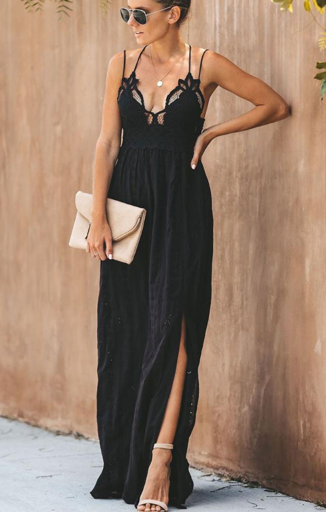 Pleasures Maxi Dress Black RF8611326