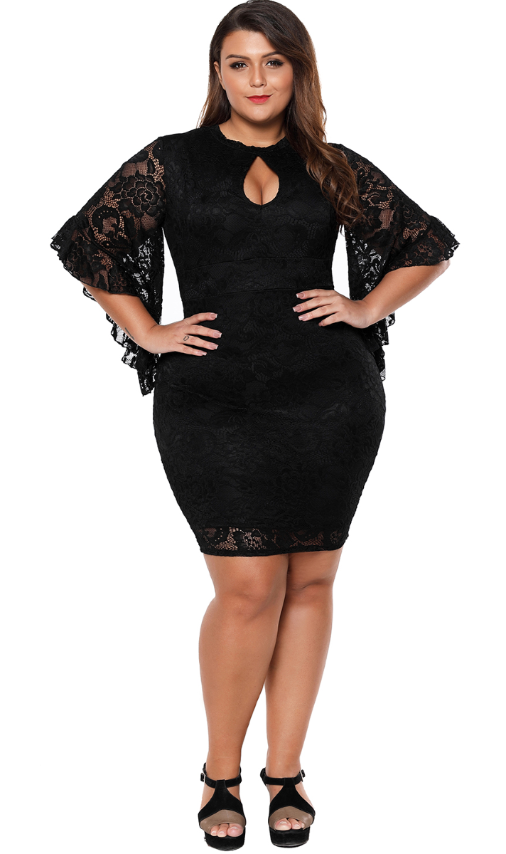 Pleasures Dress Black Plus Size