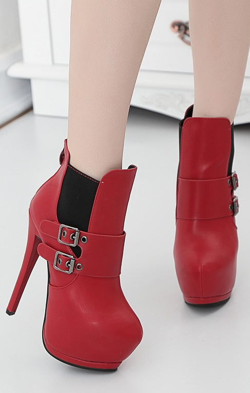 Botins Pleasures Boots Red
