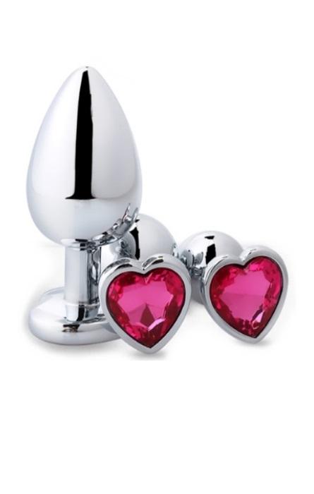 Heart Plug Anal com Brilhante RF02355