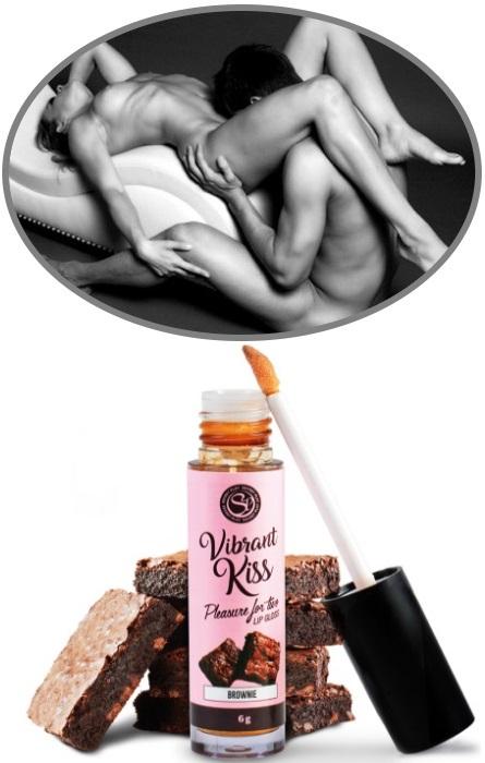 Vibrante Kiss para Sexo Oral Love Brownie RF45283