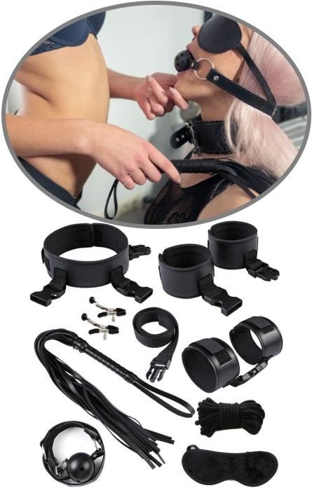Kit Bondage 9 peças Black RF03324