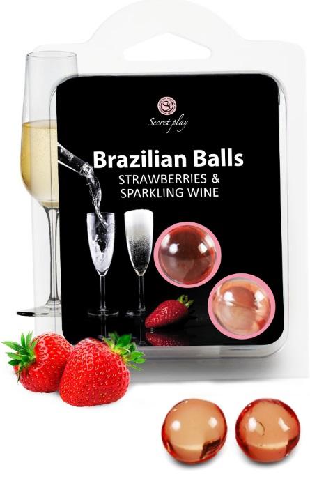 Brazilian Balls Lubrificante 2 Strawberry & Champagne RF45012