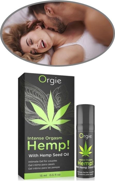 Gel Vibrador Orgasmo Intenso Orgie Hemp Casais RF45308