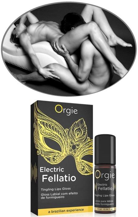 Orgie Electric Lip Gloss para Sexo Oral RF45300
