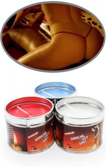 Vela Massagem Sensual Hot Wax White RF08120