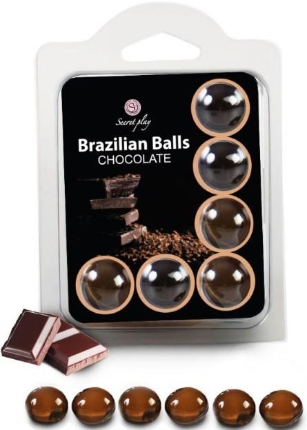 Brazilian Balls Lubrificante 6 Chocolate RF45092