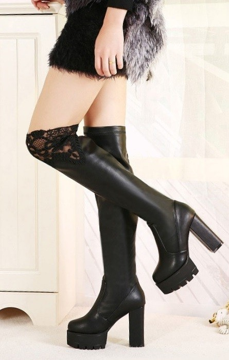 Botas Pleasures Boots Black