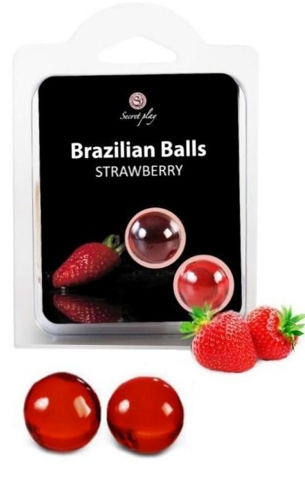 Brazilian Balls Lubrificante 2 Strawberry RF45004