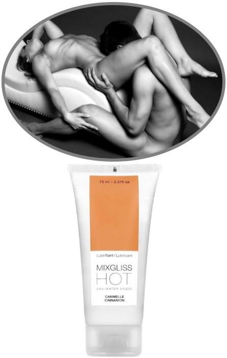 Lubrificante Quente Kiss MixGliss Cinnamon 70ml RF45516