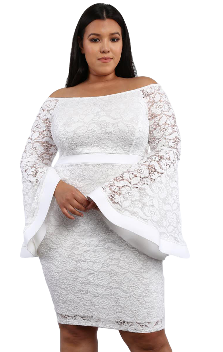 Dress Plus Size White