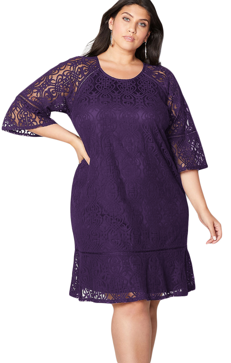 Dress Plus Size Purple