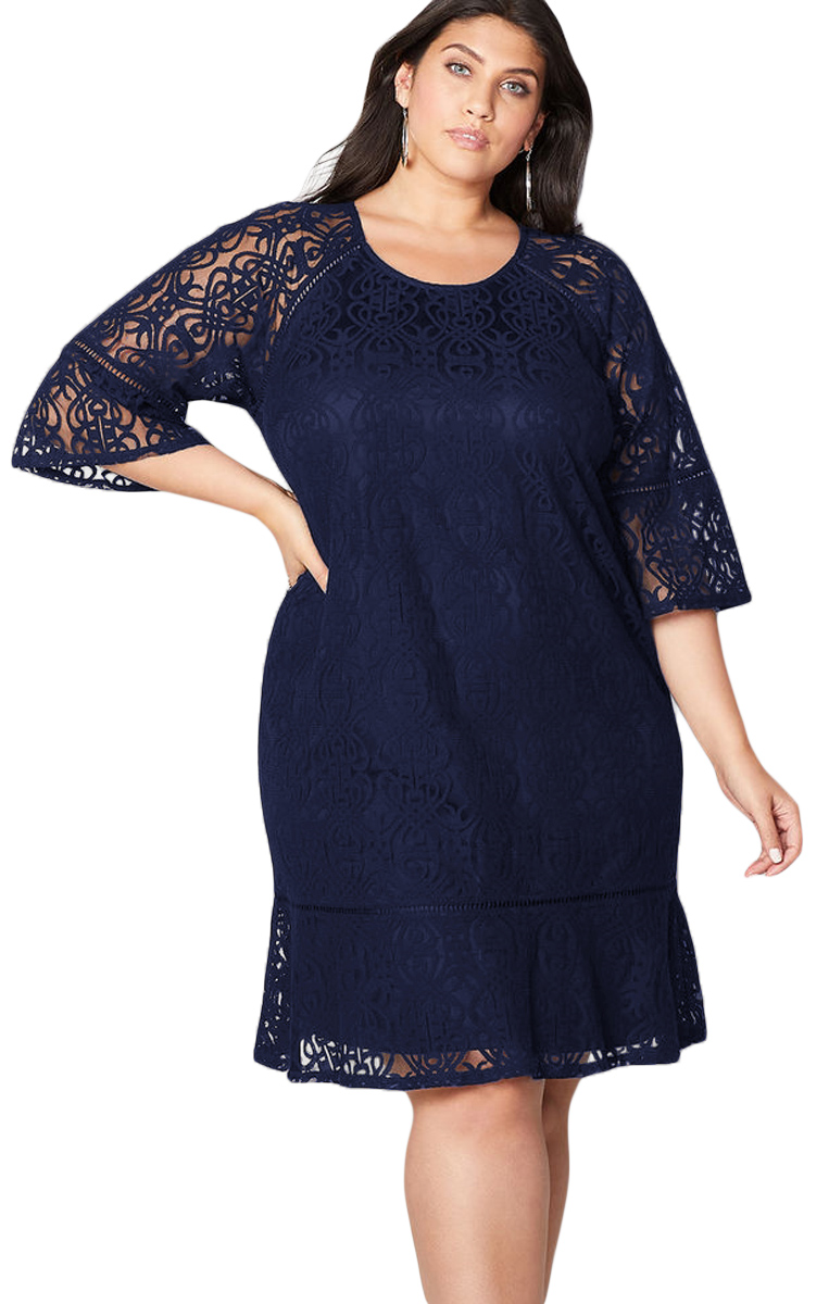 Dress Plus Size Dark Blue