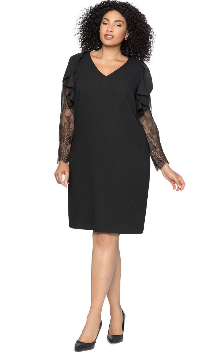 Dress Plus Size Black RF8610522