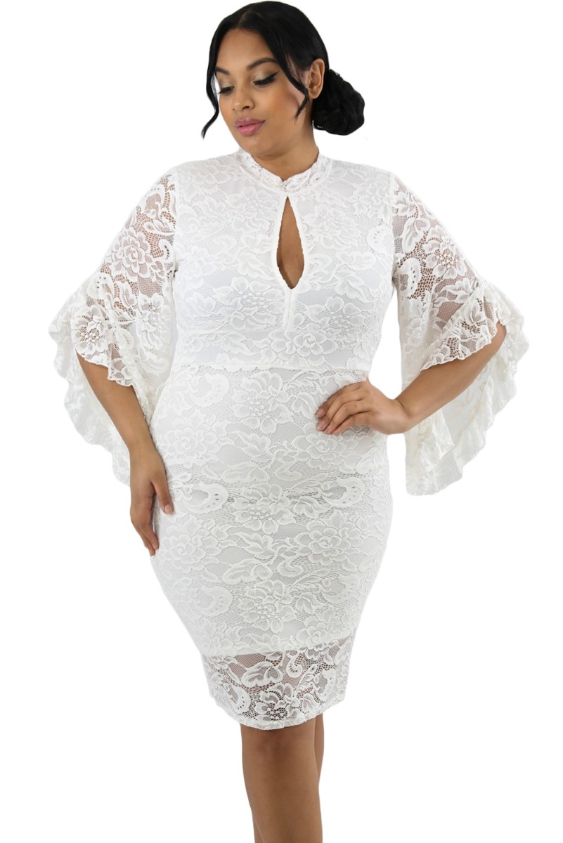 Pleasures Dress White Plus Size