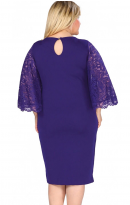 Pleasures Dress Plus Size Dark Blue