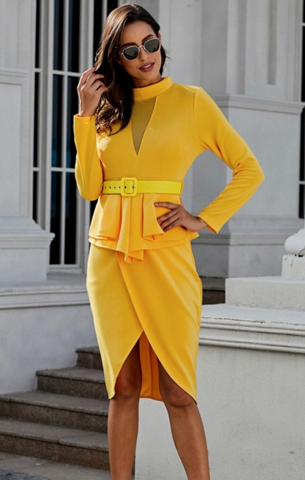 Pleasures Dress Yellow