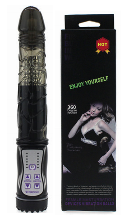 60 Speeds Vibrator With Charger Black