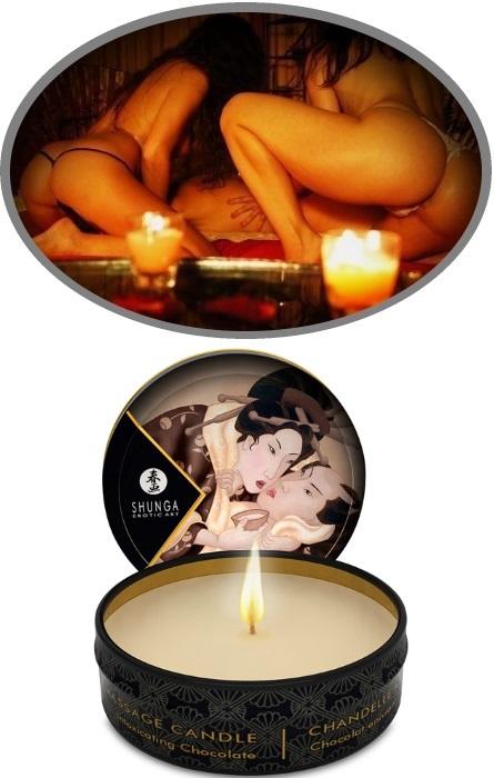 Shunga Vela Massagem Chocolate RF45118