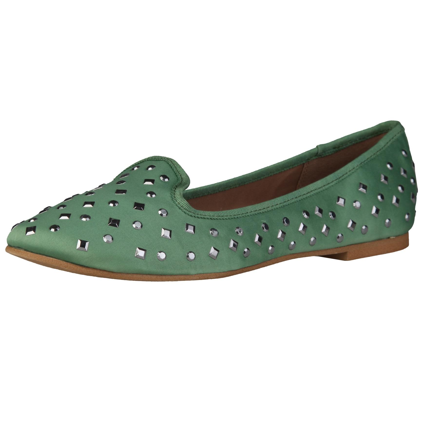Sofia Loes Flat Shoes Olive Rf600353