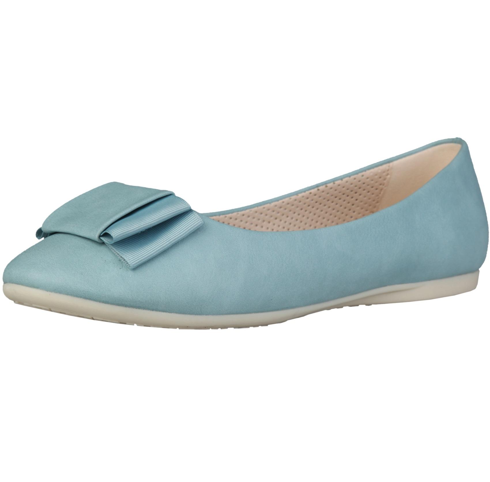 Sofia Loes Flat Shoes Fiocco Azzurro Rf600155