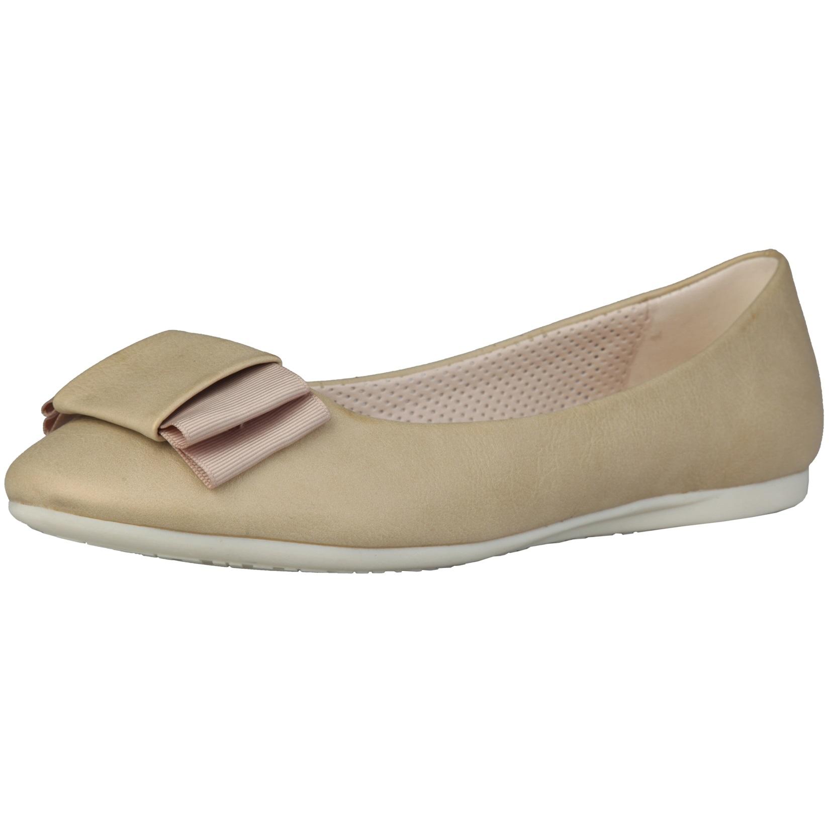 Sofia Loes Flat Shoes Fiocco Kaky Oro Rf600155