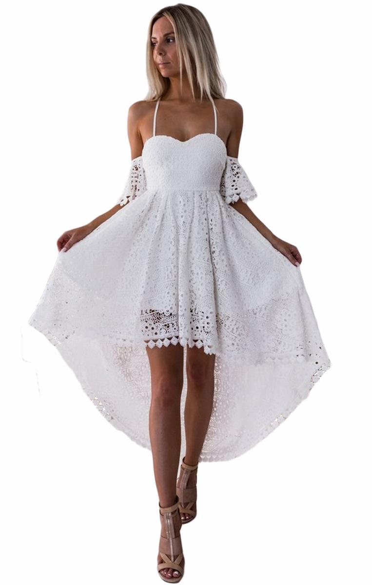 Pleasures Party Dress White