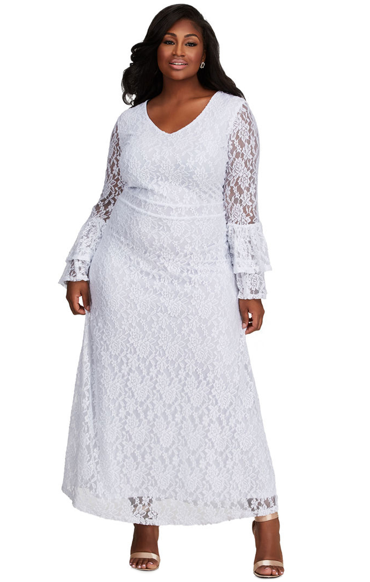 Pleasures Dress Plus Size White
