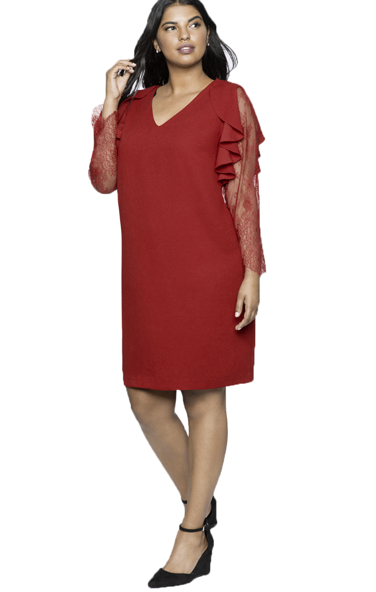 Pleasures Dress Plus Size Red