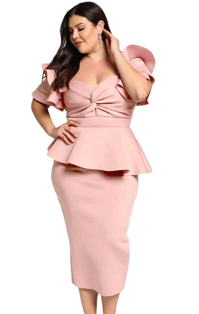 Pleasures Dress Plus Size Pink