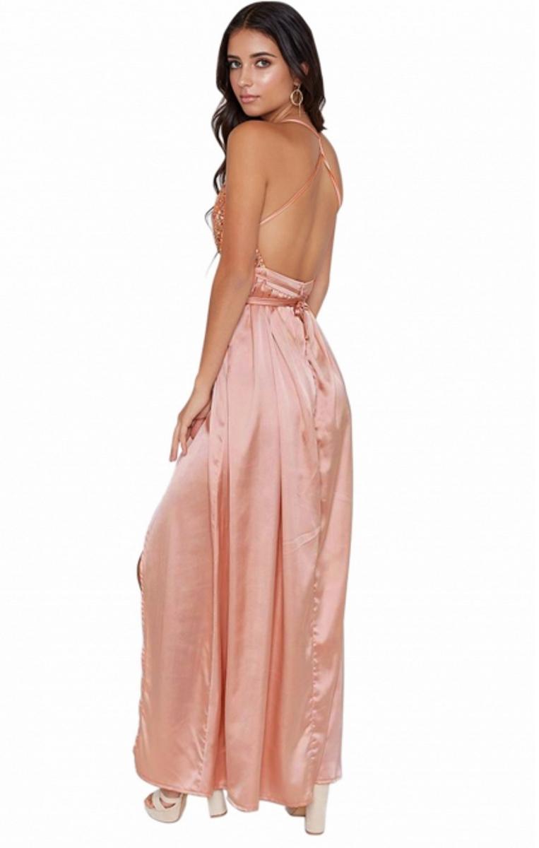 7f9fb39f45 Pleasures Maxi Party Dress Apricot RF8610565